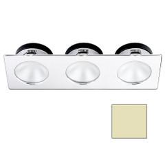 i2Systems Apeiron A1110Z - 4.5W Spring Mount Light - Triple Round - Warm White - Chrome Finish [A1110Z-16CAB]