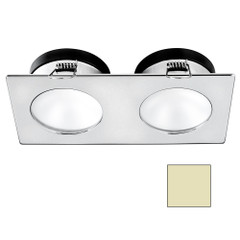 i2Systems Apeiron A1110Z - 4.5W Spring Mount Light - Double Round - Warm White - Brushed Nickel Finish [A1110Z-45CAB]