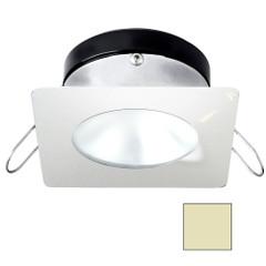 i2Systems Apeiron A1110Z - 4.5W Spring Mount Light - Square\/Round - Warm White - White Finish [A1110Z-32CAB]