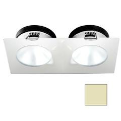 i2Systems Apeiron A1110Z - 4.5W Spring Mount Light - Double Round - Warm White - White Finish [A1110Z-35CAB]