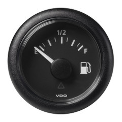 "VDO Marine 2-1\/16"" (52MM) Viewline Fuel Level Gauge Empty\/Full - 8-32V - 240-33.5 OHM - Black Dial  Round Bezel [A2C59514094]"
