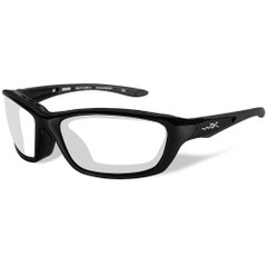 Wiley X Brick Sunglasses - Clear Lens - Gloss Black Frame [858]