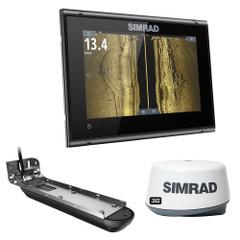 Simrad GO7 XSR w\/Active Imaging 3-in-1 Transom Mount Transducer, 3G Radar  US\/Canada Nav+ Chart [000-14869-001]
