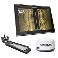 Simrad GO12 XSE Combo w\/Active Imaging 3-in-1 Transom Mount Transducer, 3G Radar  C-MAP Pro Chart [000-14855-001]