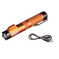 Klein Tools Rechargeable Focus Flashlight w\/Laser - 350 Lumens [56040]