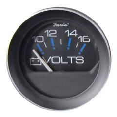 """Faria 2"""" Voltmeter (10-16 VDC) [13010]"""