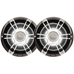 """FUSION SG-CL65SPC Signature Series Speakers 6.5"""" Grill - 230 W -Silver\/Chrome [010-01428-03]"""