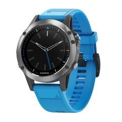 Garmin Quatix 5 Marine GPS Smartwatch - Stainless Steel w\/Blue Band [010-01688-40]