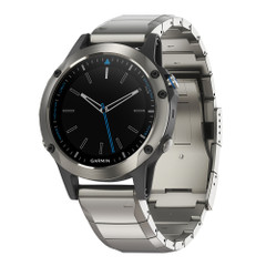 Garmin Quatix 5 Marine GPS Smartwatch - Stainless Steel Sapphire w\/Metal Band [010-01688-41]