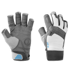 Mustang Traction Open Finger Glove - Light Gray\/Blue - Large [MA6002\/02-L-271]