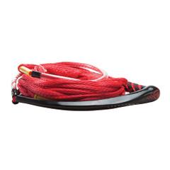 """Hyperlite Apex PE EVA Handle - 65 Wakeboard Rope - Red - 4 Sections - 15"""" Handle [87000129]"""