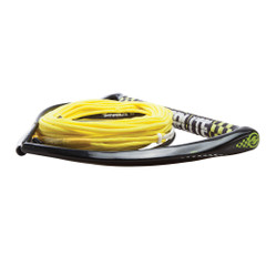 "Hyperlite 75 Rope w\/Chamois Handle Fuse Mainline Combo - Yellow - 5 Section - 15"" Handle [87000111]"