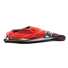 "Hyperlite 75 Rope w\/Chamois Handle Fuse Mainline Combo - Red - 5 Section - 15"" Handle [87000114]"