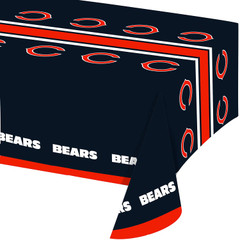 NFL Plastic Table Cover, 54x102, Chicago Bears