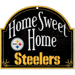 "WinCraft NFL Pittsburgh Steelers 91889010 Wood Arched Sign, 10"" x 11"""