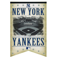 MLB New York Yankees Premium Felt Banner 17-by-26 - Stadium