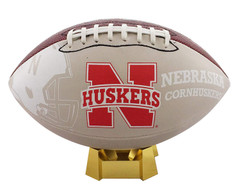 Nebraska Cornhuskers Official Size Synthetic Leather Autograph Football