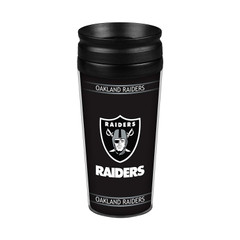 Oakland Raiders 14oz. Full Wrap Travel Mug