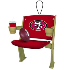Team Sports America NFL San Francisco 49ers Football Stadium Chair Christmas Ornament, Small, Multicolored