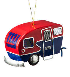 Team Sports America NFL New York Giants Metal Camper Ornament, Small, Multicolored
