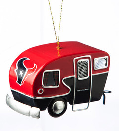 Team Sports America NFL Houston Texans Metal Camper Ornament, Small, Multicolored