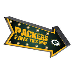 FOCO SGNNFARMRQ Green Bay Packers NFL Light Up Arrow Marquee Sign, Team Color