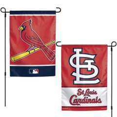 WinCraft MLB St. Louis Cardinals Flag12x18 Garden Style 2 Sided Flag, Team Colors, One Size