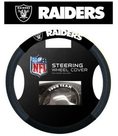 Oakland Raiders Mesh Steering Wheel Cover