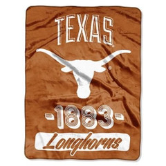 The Northwest Company 1 Pc, Texas Longhorns Blanket 46x60 Raschel Vasity Design Rolled, 100% Polyester, Big Team Logo & Graphic Background, Decorative Binding Around Edges, Machine Washable