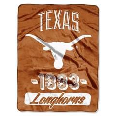 The Northwest Company 1 Pc, Texas Longhorns Blanket 46x60 Raschel Vasity Design Rolled, 100% Polyester, Big Team Logo & Graphic Background, Decorative Binding Around Edges, Machine Washable