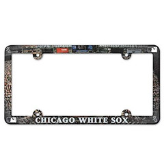 WinCraft MLB Chicago White Sox License Plate with Full Color Frame