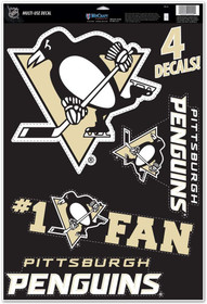"WinCraft NHL Pittsburgh Penguins WCR08801014 Multi-Use Decal, 11"" x 17"""