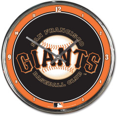 "MLB San Francisco Giants Chrome Clock, 12"" x 12"""