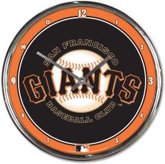 "MLB San Francisco Giants Chrome Clock, 12"" x 12"""