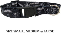 Pet Care Preferred Oakland Raiders Pet Nylon Collar - Medium