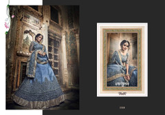 Blue color Soft Net Fabric Lehenga Choli