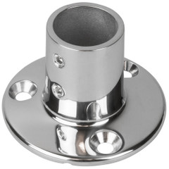 "Sea-Dog Rail Base Fitting 2-3\/4"" Round Base 90 316 Stainless Steel - 1"" OD [280901-1]"