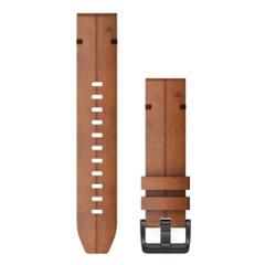 Garmin QuickFit 22 Watch Band - Chestnut Leather [010-12863-05]