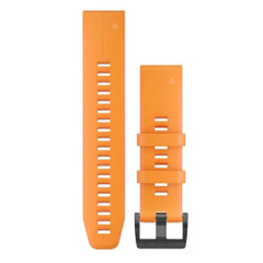 Garmin QuickFit 22 Watch Band - Solar Flare Orange Silicone [010-12740-04]