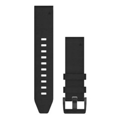 Garmin QuickFit 22 Watch Band - Black Leather [010-12740-01]