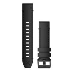 Garmin QuickFit 22 Watch Band - Genuine Horween Leather Black [010-12738-19]