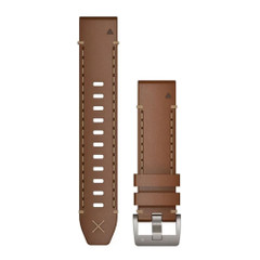 Garmin QuickFit 22 Watch Band - Italian Vacchetta Leather [010-12738-04]