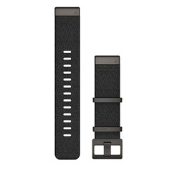 Garmin QuickFit 22 Watch Band - Jacquard-Weave Heathered Black [010-12738-03]