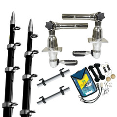 TACO Grand Slam 280 Package w\/15 Black\/Silver Poles Premium Rigging Kit  Line Caddy [GS-2842BKA-1]
