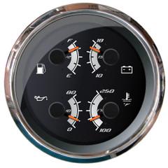 """Faria Platinum 4"""" Multi-Function - Fuel\/Oil, PSI\/Water  Temp\/Voltmeter [22014]"""