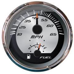 """Faria Platinum 4"""" Multi-Function - Speedometer 65MPH Pitot\/Fuel Lever [22015]"""