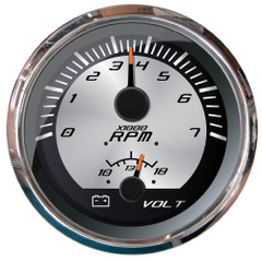 """Faria Platinum 4"""" Multi-Function - Tachometer (7000), Voltmeter (10-16V) [22016]"""
