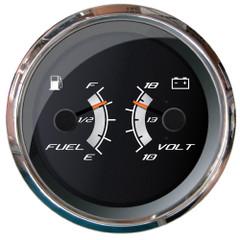 """Faria Platinum 4"""" Multi-Function - Fuel Level, Voltmeter (10-18V) [22013]"""