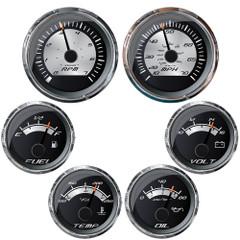 Faria Platinum Box Set Inboard Speed, Tach, Fuel, Voltmeter, Water Temp  Oil Pressure [KTF0186]