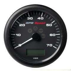 "VDO Marine 4-1\/4"" (110MM) ViewLine GPS Speedometer 0-70 KNOTS\/KMH\/MPH - 8 to 16V Black Dial  Bezel [A2C59501781]"